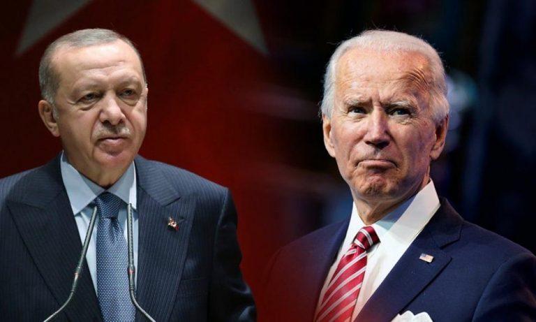 Έξαλλος ο Ερτογάν με Μπάϊντεν: «Παρέμβαση στα εσωτερικά της Τουρκίας»