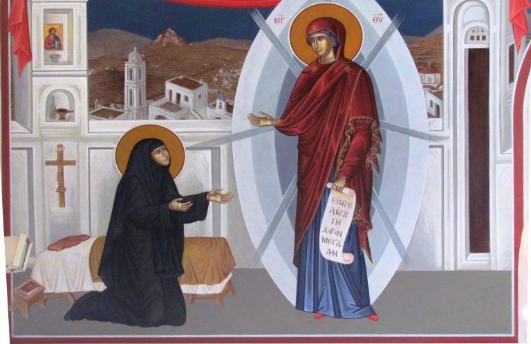 Η εύρεση της θαυματουργής εικόνας της Παναγίας/Το όραμα της Αγίας Πελαγίας