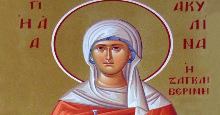 Το καντήλι δηλώνει το σεβασμό των Ζαγκλιβερινών στην Αγία Ακυλίνα