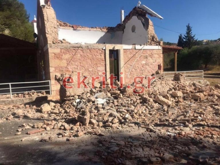 Φονικός σεισμός στην Κρήτη/Ένας νεκρός αρκετοί τραυματίες και πολλές ζημιές