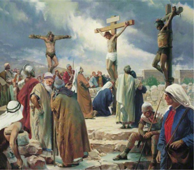 Οι δύο ληστές δίπλα στον Ιησού/Τα τελευταία λόγια στον Σταυρό του Μαρτυρίου!